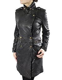 Suchergebnis auf Amazon.de für  schwarzer Ledermantel - Damen  Bekleidung 82e8e9b52c
