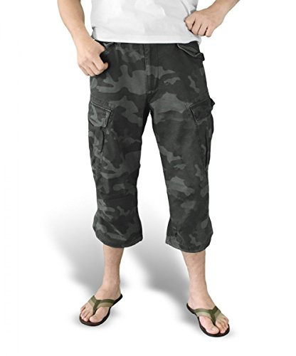 Surplus - 112190500M574000, Shorts da uomo Nero camo