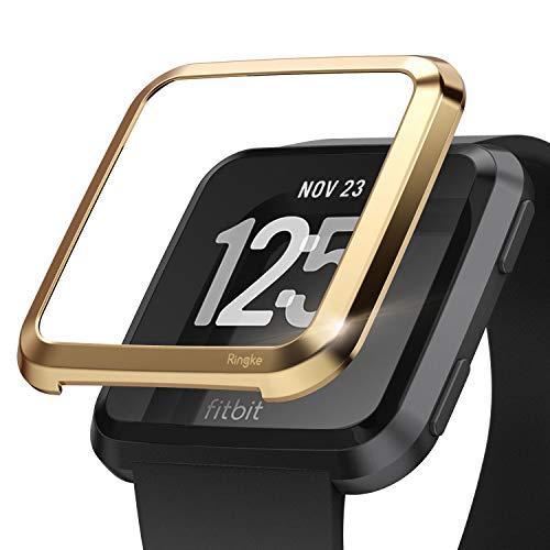 Ringke Bezel Styling Entwickelt für Fitbit Versa Hülle Cover (für Fitbit Versa Gesundheit Smartwatch) - FW-V-05 Black Silicon Case Screen