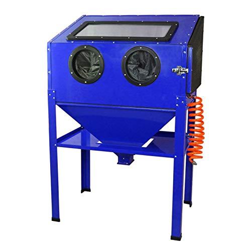 Vertikaler Sandstrahler Sandstrahlgerät Sandstrahlkabine - Tragbarer Industrie-Sandstrahler 220 L