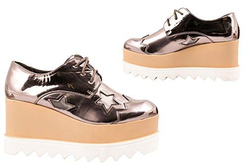 Elara , Chaussures à lacets et coupe classique femme Grau Profil