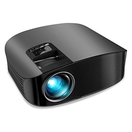 Proiettore, videoproiettore da 4000 lumen aggiornato Proiettore per Home Cinema da 200'LCD Supporto 1080P VGA AV USB MicroSD per home entertainment, feste e giochi