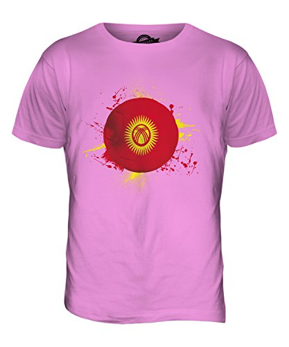 CandyMix Kirgisistan Fußball Herren T Shirt Rosa
