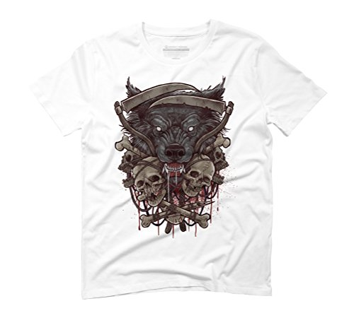 Wolf Men's Graphic T-Shirt - Design By Humans White