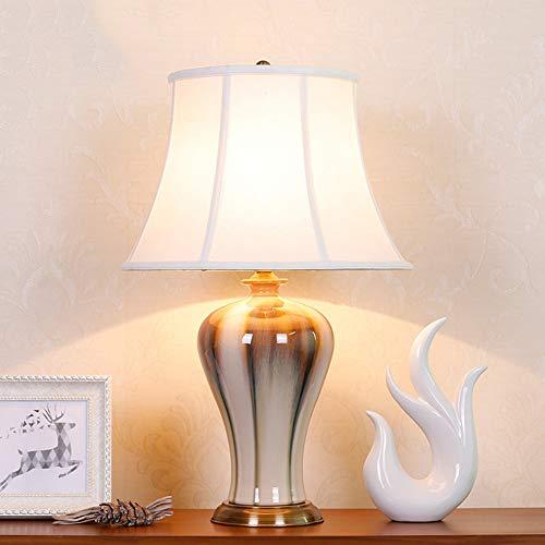 Chinesisch glasierte Keramik Tischlampe, Sammlung leichte Schlafzimmeratmosphäre Tischlampe für zu Hause und Hoteldekoration -
