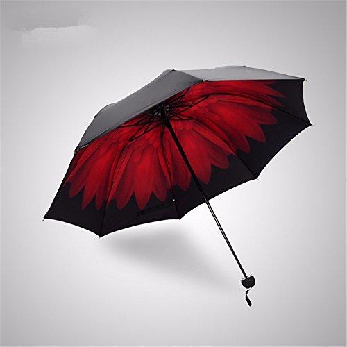 Regenschirm Travel Compact Lightweight Ultra Mini Portable Tasche Größe Anti-UV-Sonnenschirm...