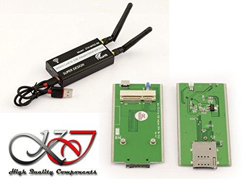 Pilot-antenne (Kalea Informatique Adapter MiniPCIe auf USB für Modul WWAN LTE (mPCIe Typ USB)–mit Ständer Karte Sim kompatibel 3g 4g)