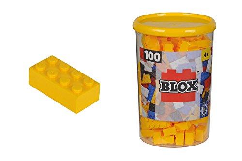 Simba 104118898 - Blox Steine in Dose, Konstruktionsspielzeug, 100, gelb