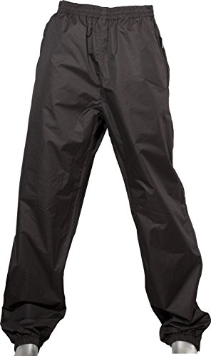 Fifty Five Herren Damen Regenhose Wasserdicht Melburz Schwarz 5XL
