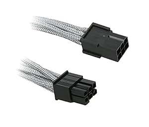 BitFenix Verlängerungskabel (6-Polig PCIe), 45 cm silber/schwarz