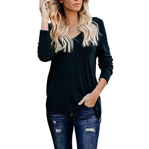 Tianwlio Damen Lässige Langarmshirt Hoodie Pullover Weihnachten Solide Langarm Lose Reißverschluss V-Ausschnitt Tops Shirt Lässige Tunika Bluse Grün XL