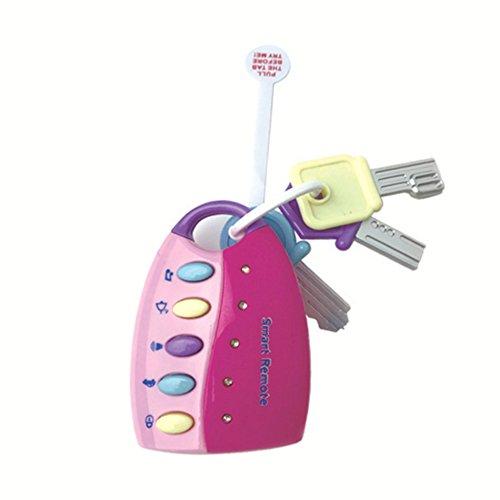 Flash-Musik Smart Car Key Baby Spielzeug Rollenspiel Set Touch Telefon Auto Schlüssel große pädagogisches Spielzeug für Spaß lernen Rosa Baby-Spielzeug-Geschenke
