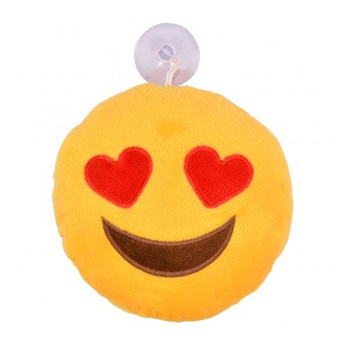 Emoticons Emoji-Gesicht mit Herz Augen Auto Fenster Dangler