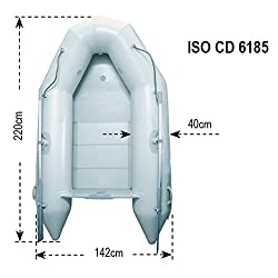 LALIZAS Hercules 220Boat Inflatable Pneumatic, Light Grey, One Size