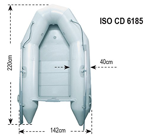 LALIZAS Hercules 220 Boat Inflatable Pneumatic, Light Grey, One Size