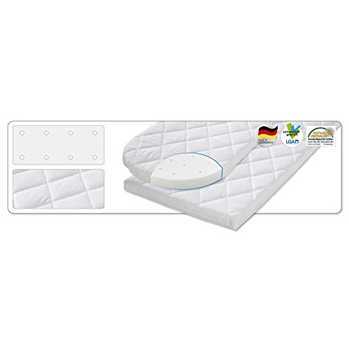 Julius Zöllner Wiegenmatratze (eckig) - Dream Soft Plus 90x40x4 cm