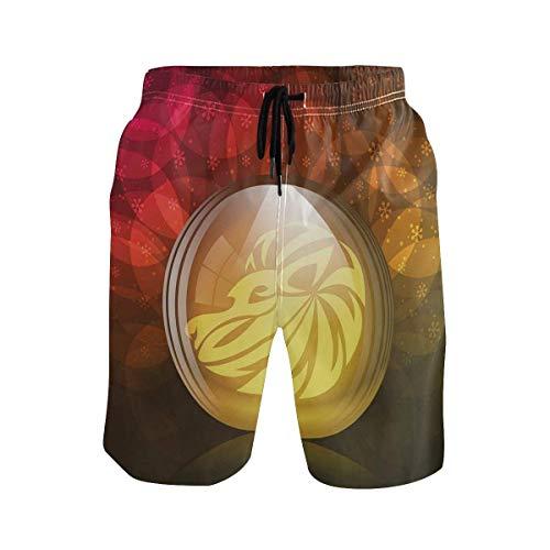KAKICSA Men's Summer ShortsTrap Set Ethnic Western Eastern Bongo Timpani Folk AR,Size:XXL