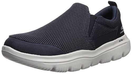 Skechers GO WALK EVOLUTION ULTRA-IMPEC, Men's Slip On Trainers, Blue (Navy Textile/Gray Trim Nvgy), 9.5  (44 EU)