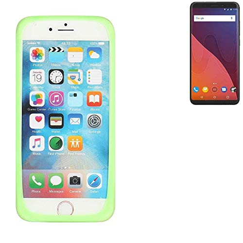K-S-Trade Für Wiko View 32 GB Silikonbumper/Bumper aus TPU, Grün Schutzrahmen Schutzring Smartphone Case Hülle Schutzhülle für Wiko View 32 GB