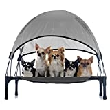Wiltec Hundeliege Grau 76x60x16cm bis 40kg Relaxliege Hundebett Katzenliege Haustier Schlafplatz