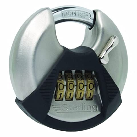 Sterling CPL170 70mm Closed Shackle Disc Padlock with Combination with 4-Dial