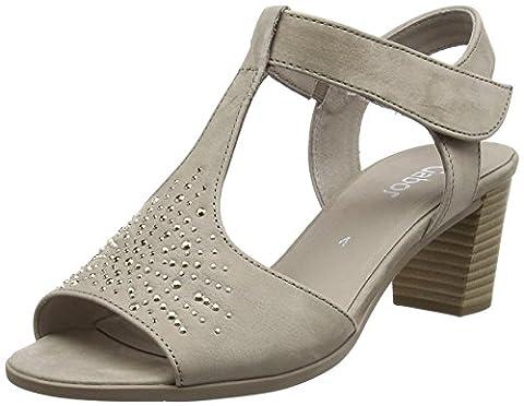 Gabor Tagus, Women's Sandals, Grey (Taupe Nubuck Lavato), 5 UK (38 EU)