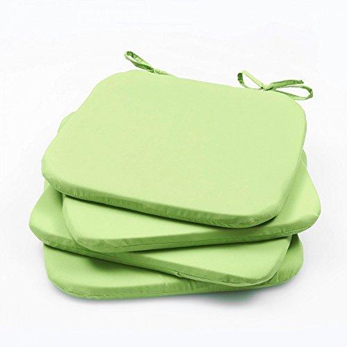 2er - 4er Pack Stuhlkissen Stuhlauflage Bodenkissen Sitzkissen Auflage 36x36 x 3, Farbe:4er Pack GRÜN