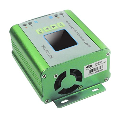 Preisvergleich Produktbild LouiseEvel215 Tragbarer MPT-7210A Solarladeregler 10A LCD-Display mit Hintergrundbeleuchtung Auto MPPT Batterieladeregler