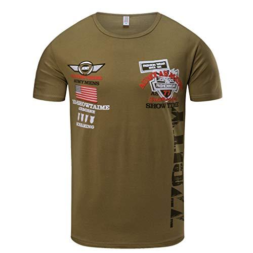 OSYARD T-Shirts Hommes à Manches Courtes 77 City Tops Blouse de Sport Fitness Vetement été