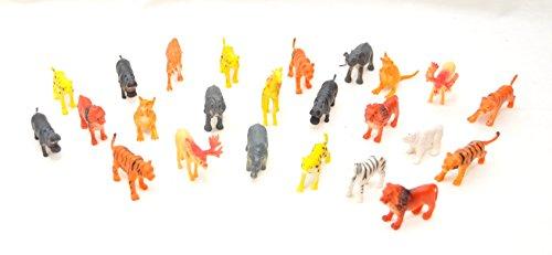 24er XL Set Zootiere ca. 5-7 cm, Löwe, Nashorn, Nilpferd, Kamel, Gepard,Känguru, Elefant , Elch, Tiger, Giraffe,Zebra by schenkfix (Zebras Und Geparden)
