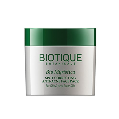 Biotique Bio Myristica Spot Correcting Anti-Acne Face Pack For Oily & Acne Prone Skin, 20gm