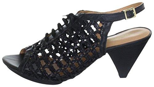 Via Uno 21123504 Schn眉rsandaletten Sandaletten Leder black Black