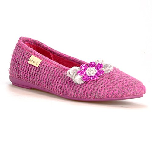 GRUNLAND DANY PA0455 fuxia pantofole ciabatte donna panno 41