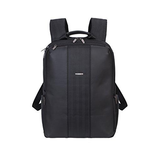 """RIVACASE Notebook Rucksack bis 15.6"""" – Geräumige Tasche mit viel Platz für Zubehör und Belüftungssystem – Schwarz"""