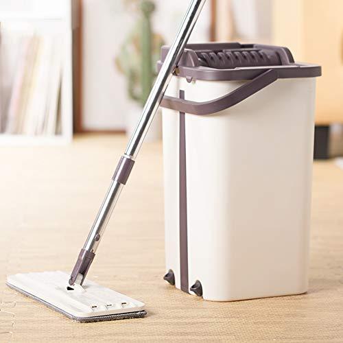 Magic Cleaning Mops Freihandschleudermopp mit Eimer Fasertuchböden Squeeze Spray Flat Mop Home Küchenbodenreiniger -