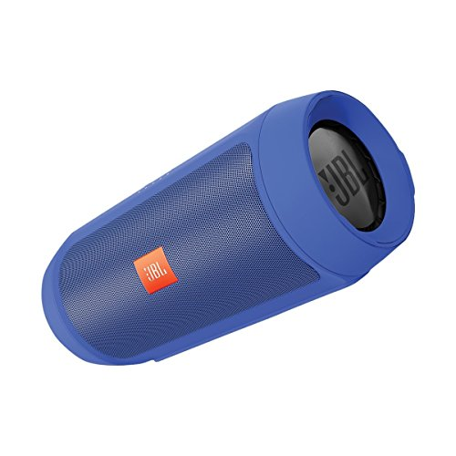 JBL Charge 2+ - inalámbrico con Bluetooth (entrada estéreo de 3,5 y función Compartir; compatible con dispositivos Apple iOS y Android), color azul