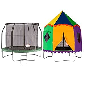 8ft Telstar Jump Capsule Trampoline and Safety Net Package - FREE CIRCUS TENT & COVER ONLY £279 48HR DELIVERY