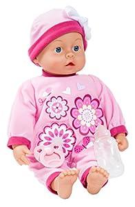 Bayer Design Muñeca, First Words Baby, 4 Funciones con Sonidos de bebé, 46 cm, Color Rosa 94664AA