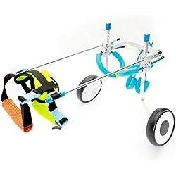 """RUNGAO Silla de ruedas ajustable para perro, rehabilitación de piernas para perros pequeños, perros, cachorros y 2 ruedas, XS-Weight:8-22lbs,Hip Height:7.5""""-13.8"""""""