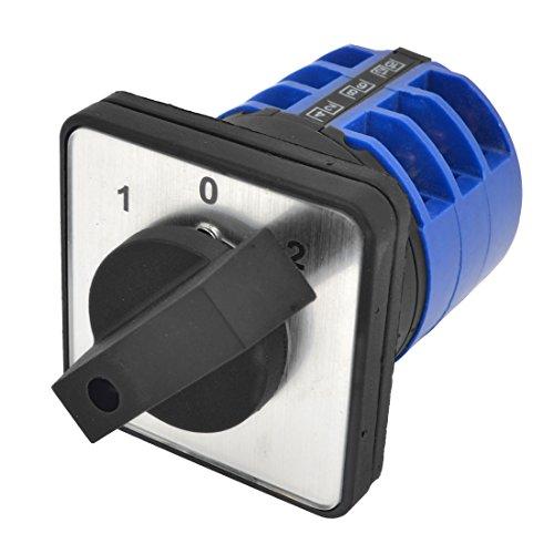 sourcingmap® LW28-32a / 3 Ui660V Ith 32A 3 Posiciones Conmutador giratorio negro...