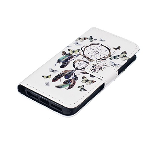 iPhone 5S Coque, cowx Étui de protection Etui en cuir pour iPhone 5S 5Étui en cuir PU Case Coque, iPhone 5, iPhone 5S 5Case, housse support portefeuille pour iPhone 5S 5poches Bols Foto4