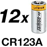 de.power CR123A Lithium Batterien, 12 Stück