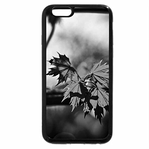 iPhone 6S Plus Case, iPhone 6 Plus Case (Black & White) - Green Maple Leafs Green Maple Leaf