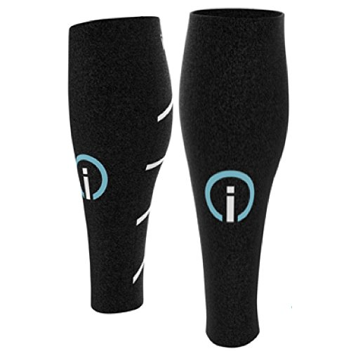 Calf Compressions Sleeves for Running & Cycling - by ignitionfit for Men & Women - Sports Recovery, Shin Splints, Medical and Air Flight - Used by Marathon Runners, Cyclists and Fitness Enthusiasts
