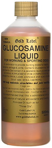 William Hunter Equestrian Gold Label Canine Glucosamine Liquid 500ml - Provides vilding blocks for healthy joints… 1