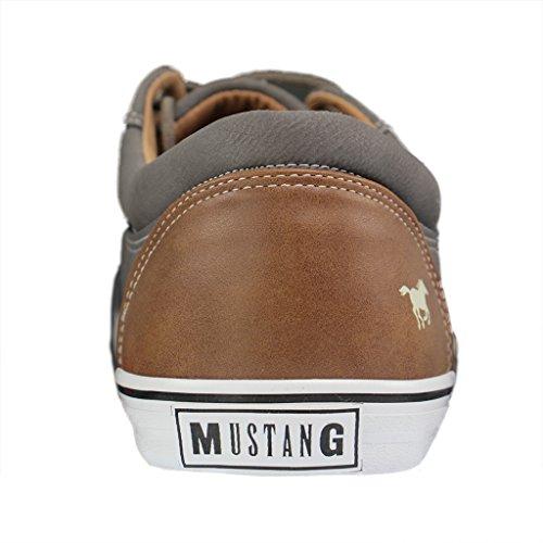 Mustang 4101-303-2, Sneakers Basses Homme Gris