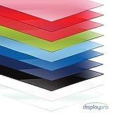 Displaypro Acrylglasscheibe/Plexiglasplatte, Formate A5/A4/A3 erhältlich, 3mm dick,, Rot/glänzend, A4
