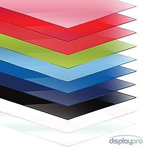 displaypro acrylglasscheibe plexiglasplatte formate a5 a4 a3 erh ltlich 3mm dick verschiedene. Black Bedroom Furniture Sets. Home Design Ideas