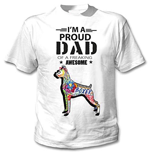 teesquare1st Men's Boxer - Proud Dad c White T-Shirt Size XXXXXLarge