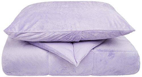 Kittrich Corporation Memory Foam Kidz Komfort Kidz Zweiteiliges Twin Tröster und Sham Set, Lavendel, Twin -